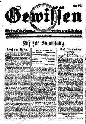 Gewissen vom 27.06.1921