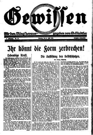 Gewissen vom 04.07.1921