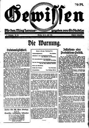 Gewissen vom 11.07.1921