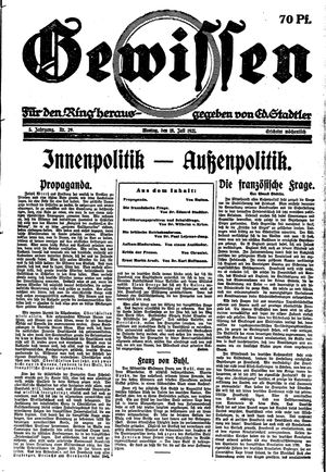Gewissen vom 18.07.1921