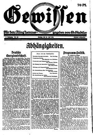 Gewissen vom 25.07.1921