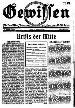 Gewissen vom 05.09.1921