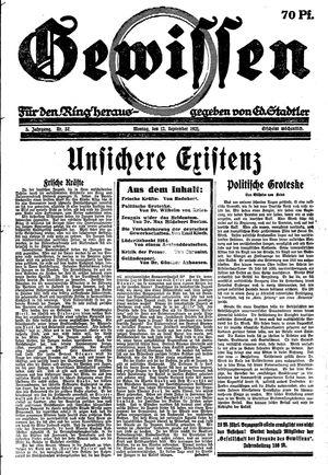 Gewissen vom 12.09.1921