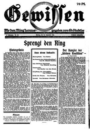 Gewissen vom 26.09.1921