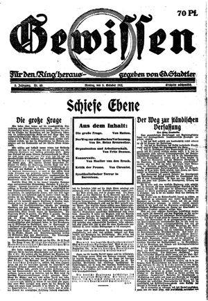 Gewissen vom 03.10.1921