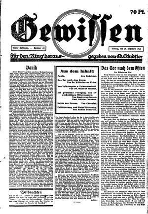 Gewissen vom 28.11.1921