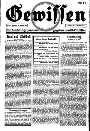 Gewissen vom 05.12.1921
