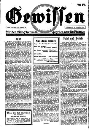 Gewissen vom 12.12.1921
