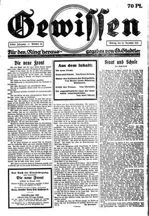 Gewissen vom 19.12.1921