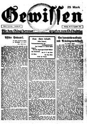 Gewissen (18.12.1922)