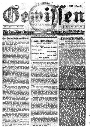 Gewissen vom 08.01.1923