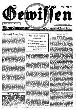 Gewissen vom 15.01.1923