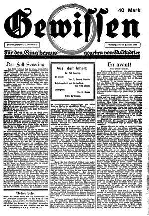 Gewissen on Jan 22, 1923