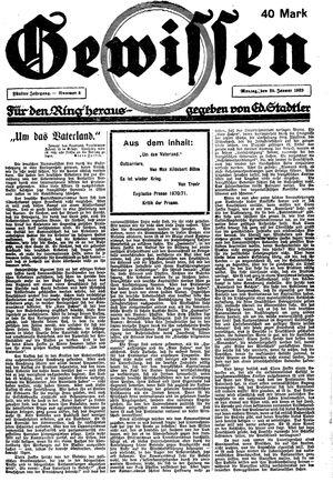 Gewissen on Jan 29, 1923