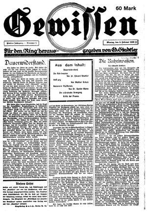 Gewissen vom 05.02.1923