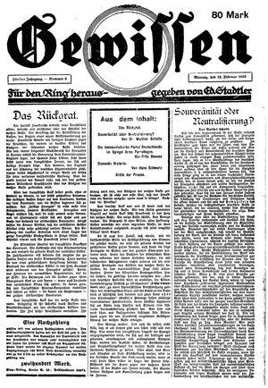 Gewissen on Feb 12, 1923