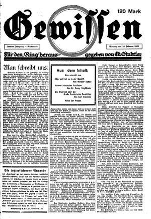 Gewissen vom 26.02.1923