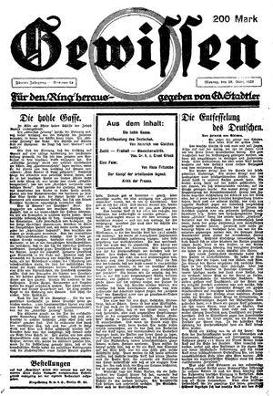 Gewissen vom 26.03.1923
