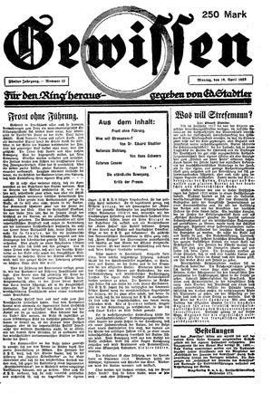Gewissen vom 16.04.1923