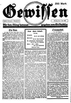 Gewissen vom 07.05.1923