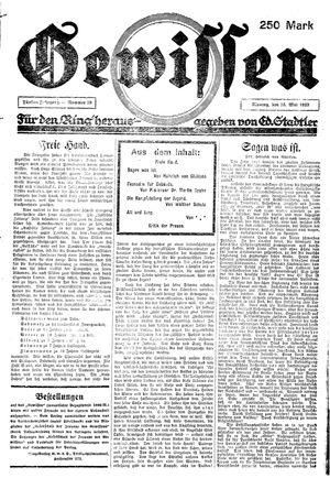 Gewissen vom 15.05.1923