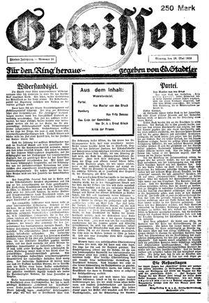 Gewissen vom 28.05.1923