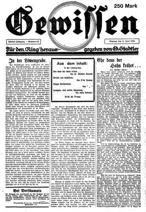 Gewissen vom 11.06.1923
