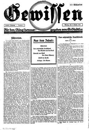 Gewissen vom 07.01.1924