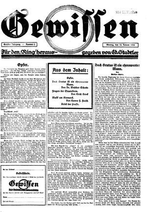Gewissen on Jan 14, 1924