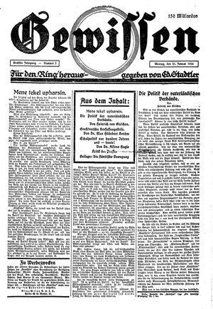 Gewissen vom 21.01.1924
