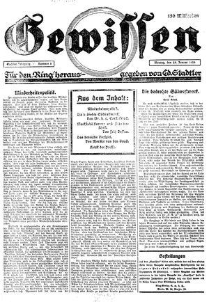 Gewissen vom 28.01.1924