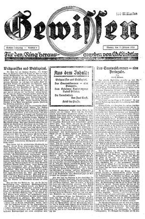Gewissen vom 11.02.1924