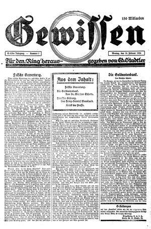 Gewissen on Feb 18, 1924