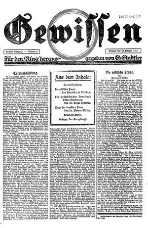 Gewissen on Feb 25, 1924
