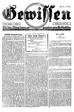 Gewissen vom 03.03.1924