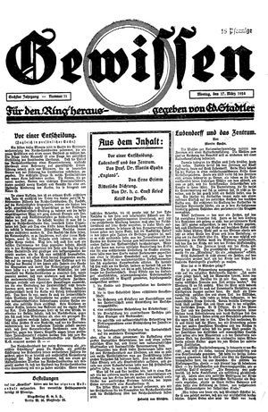 Gewissen vom 17.03.1924