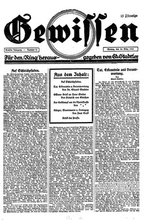 Gewissen vom 24.03.1924
