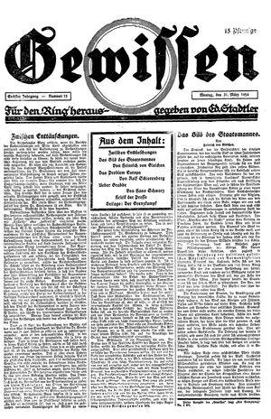 Gewissen vom 31.03.1924