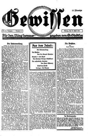 Gewissen vom 21.04.1924