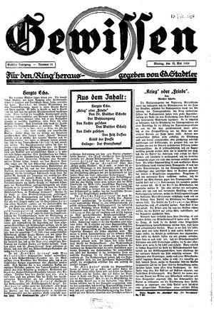 Gewissen vom 12.05.1924
