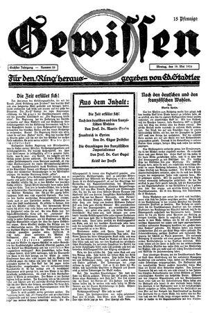 Gewissen vom 19.05.1924