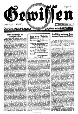 Gewissen vom 26.05.1924