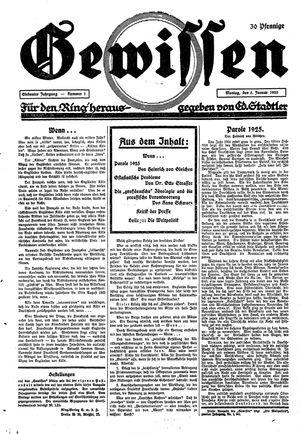 Gewissen vom 05.01.1925