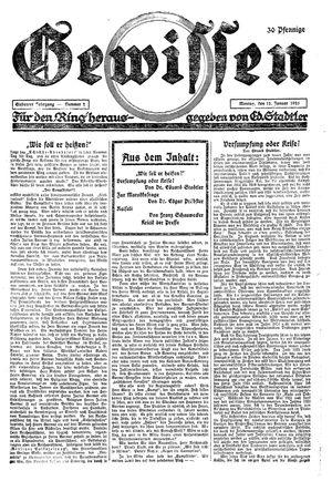 Gewissen vom 12.01.1925