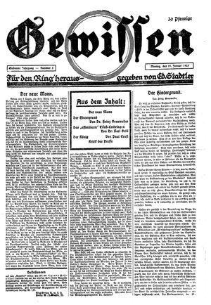 Gewissen vom 19.01.1925