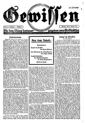 Gewissen vom 26.01.1925