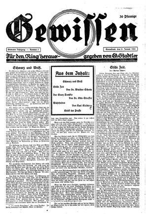 Gewissen vom 31.01.1925