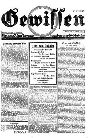 Gewissen vom 23.02.1925