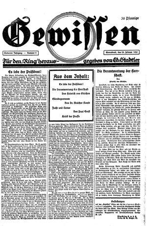 Gewissen on Feb 28, 1925
