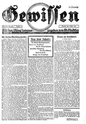 Gewissen vom 09.03.1925